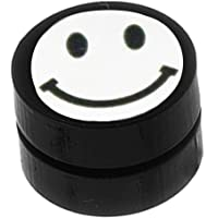 Fida Arts Smiley emoji (Non Piercing) Black colour Round Barbell Magnetic Stud Earring for Men and boys