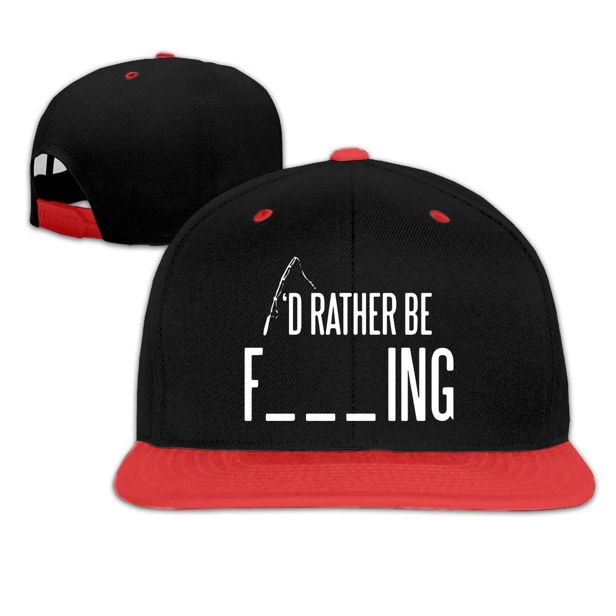 HERSTER Toddler Girls Rather Be Fishing Baseball Cap Hats Snapback Hiphop Cap Hats
