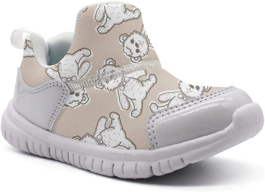 ONEYUAN Children My 1st Teddy Bear Kid Casual Lightweight Sport Shoes Sneakers Walking Athletic Shoes