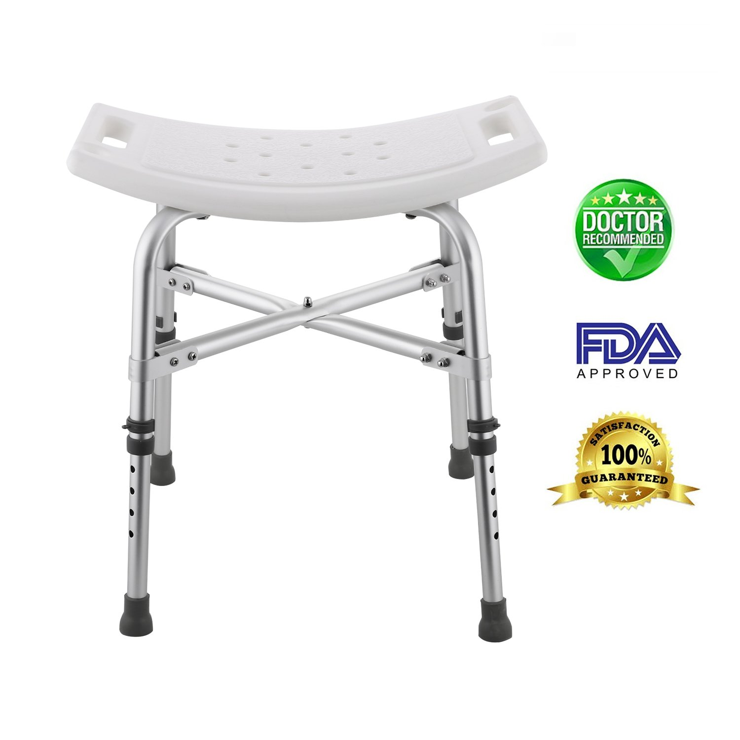 Kaluo Bath Shower Stool Lift Chair for Bathroom Aid Chair, Up to 330lbs Capacity (19.5 x 11.7inch)