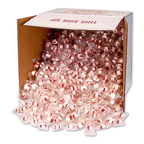 Soft Peppermint Puffs, 1000 individually wrapped pieces (clear wrap bulk box) -