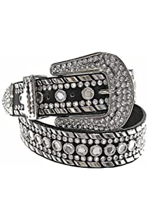 Luxury Divas Rhinestone Studded Western Belt For Women