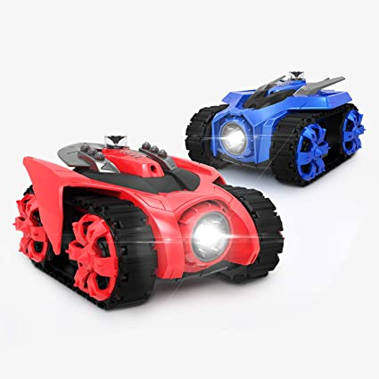 Galaxy Zega Z-1001 Bluetooth Remote Control Car for Boys, Girls, Adults or  Kids, Include 2 Packs Leo and GONDAR, One Size, Red/Blue