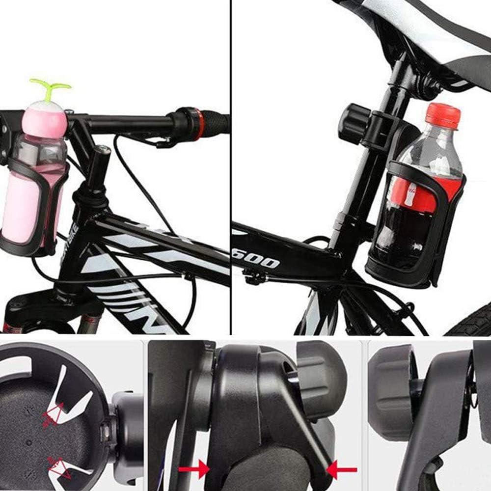 Portavasos Para Cochecito 2PCS 360 Grados Ajustable Soporte Para Bebidas para Cochecito de Beb/é Portavasos Universal Soporte Para Bicicletas Bicicletas de Monta/ña Sillas de Ruedas Cochecitos Negro