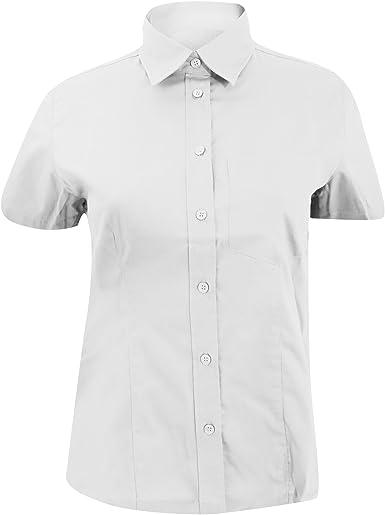 Kustom Kit- Camisa Oxford de empresa de manga corta con bolsillo para mujer: Amazon.es: Ropa y accesorios