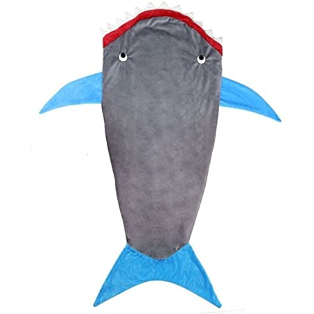 Kids Blanket Shark Soft Fleece Blankets Snuggle-In Cosy Sleeping Bag One Size