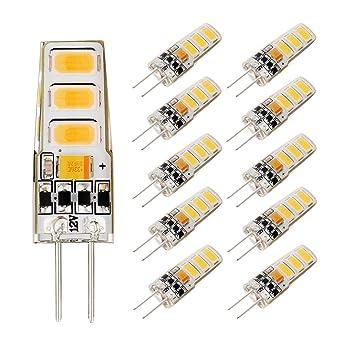 EKSAVE 2W G4 Bombillas LED Blanco cálido 150LM, Reemplazo de bombillas halógenas de 15W,