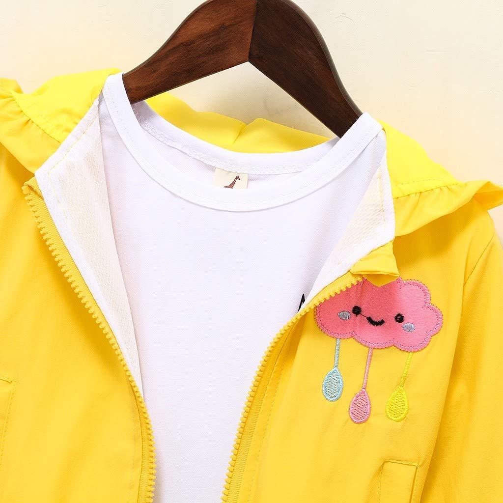 Kids Baby Girls Boys Cute Cartoon Cloud Hooded Zipper Coat Autumn Jacket for 0-6 Yrs TM Little Kids Spring Coat,Jchen