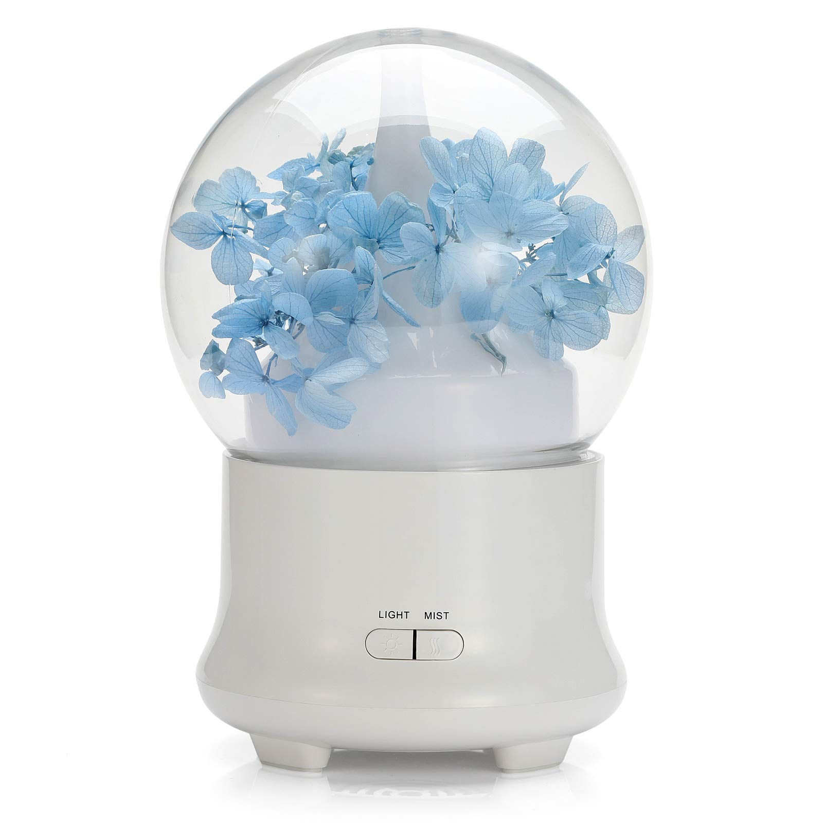 Unionteam Aromatherapy Essential Oil and Ultrasonic Diffusers Cool Mist Humidifier with 7 Colours LED Lights and Waterless Auto Shut-Off for Home Office Bedroom Room