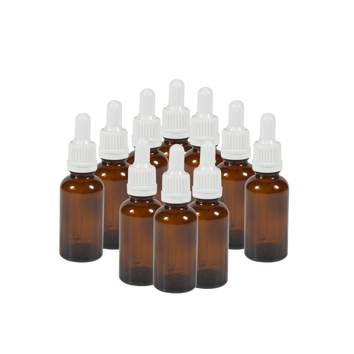 10 x flacons vides en verre ambr/é avec compte-gouttes Contenance 30 mL FL29