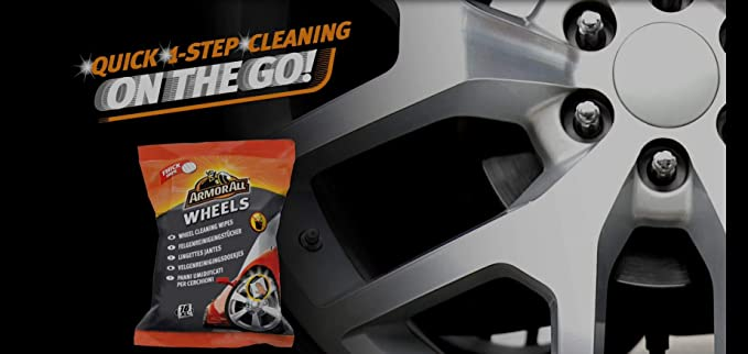 Armor All 24 X Gaa33016ml5a Wheel Cleaning Wipes Quick Clean In Just One Step No Water Auto