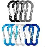 TITECOUGO Ultra-Light Nonlocking Carabiner Aluminum Alloy D-Ring Key Chain Clip Hook
