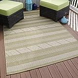 Lavish Home Aztec Stripe Indoor/Outdoor Area Rug, 5' x 7'7