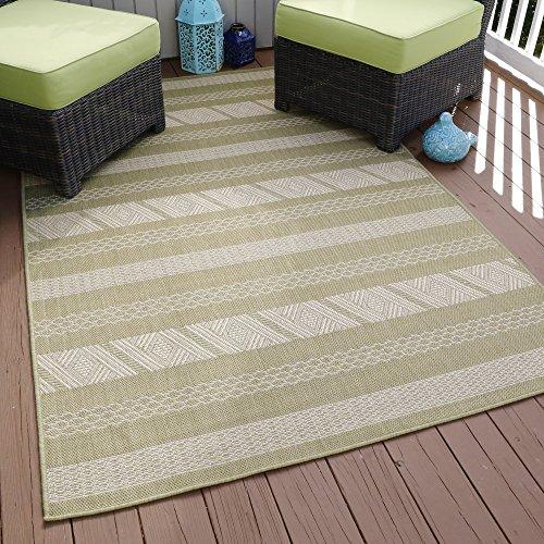 Lavish Home Aztec Stripe Indoor/Outdoor Area Rug, 5′ x 7'7″, Green Review