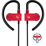 Wireless Bluetooth Headphone BOROFONE BE3 Noise Cancelling Earbuds Headsets With HD Stereo Waterproof Running Outdoor Earphones (Red)