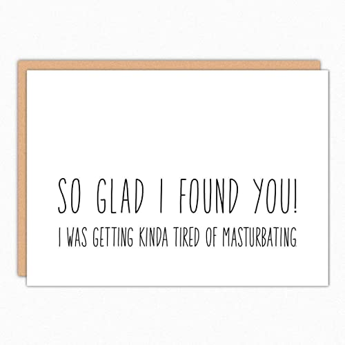 Funny Valentines Day Cards For Wife 105 So Glad I Found You Naughty Birthday Card Love Boyfriend Dirty Sexy