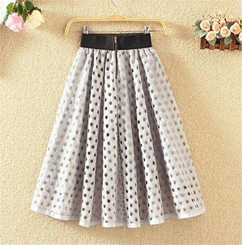 Skirt Avec ElGant Jupe vase Jupe Taille Parapluie Universite Femelle Longue Jupe Femme Grey Zip Extensible Jupe Avec Mi Hole Tayaho qSwfnFzxt0