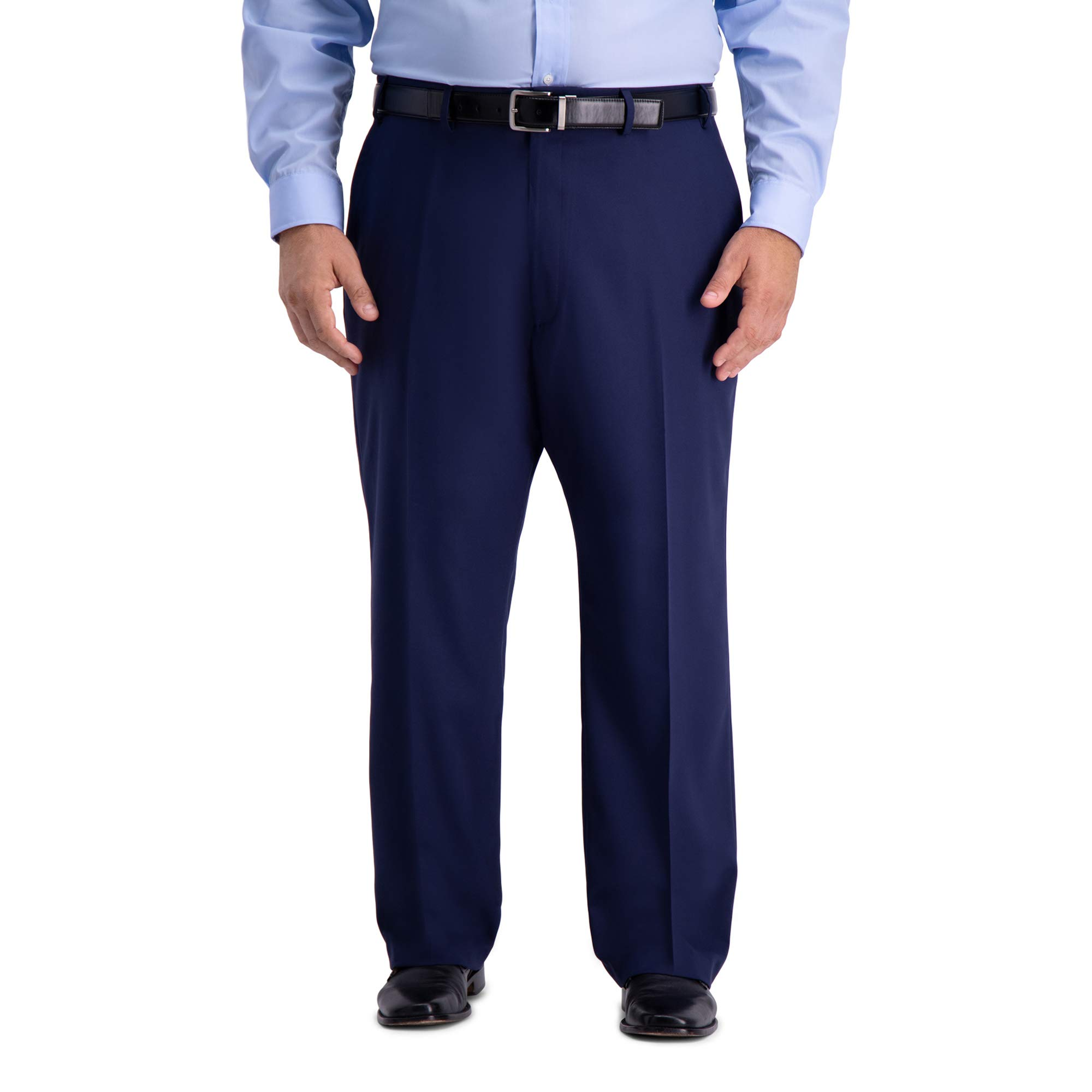 Haggar Men's Tall B&T Active Series Stretch Classic Fit Suit Separate Pant, Midnight 46Wx34L