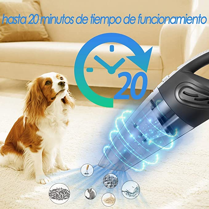 Newdora Aspirador Sin Cables para Limpieza Interior de Coches ...