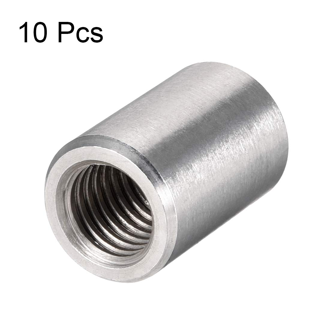 Uxcell a16050300ux0573 M6 Rose Joint Adapter Threaded Rod Bar Stud Round Coupling Connector Nuts 5pcs
