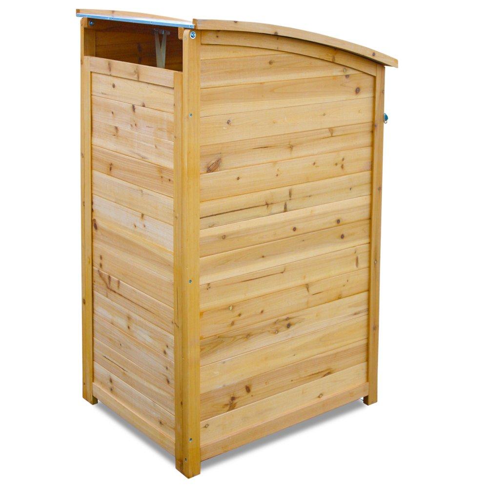 HABAU 3150 Wooden Dustbin 120 L