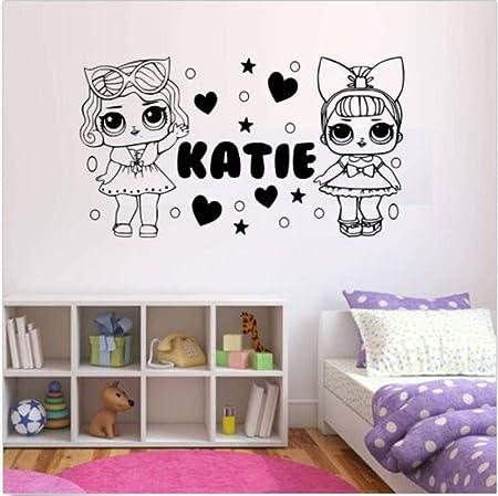10 LOL Poupées Papier Photo Autocollant Mural Applique Murale 2 Tailles