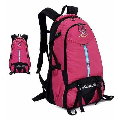 AllureFeng Extérieur imperméable à l'eau et résistant à la déchirure randonnée sac Sport Backpack Sac à dos de couleurs vives pour les hommes et les femmes 55L