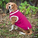Fashion Pet Outdoor Dog Ribbed Polar Fleece Vest, Small, Pink