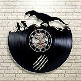 Jurassic Park Art Vinyl Wall Clock Gift Room Modern Home Record Vintage Decoration
