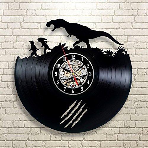 Jurassic Park Art Vinyl Wall Clock Gift Room Modern Home Record Vintage (Fight Club Costume Design)