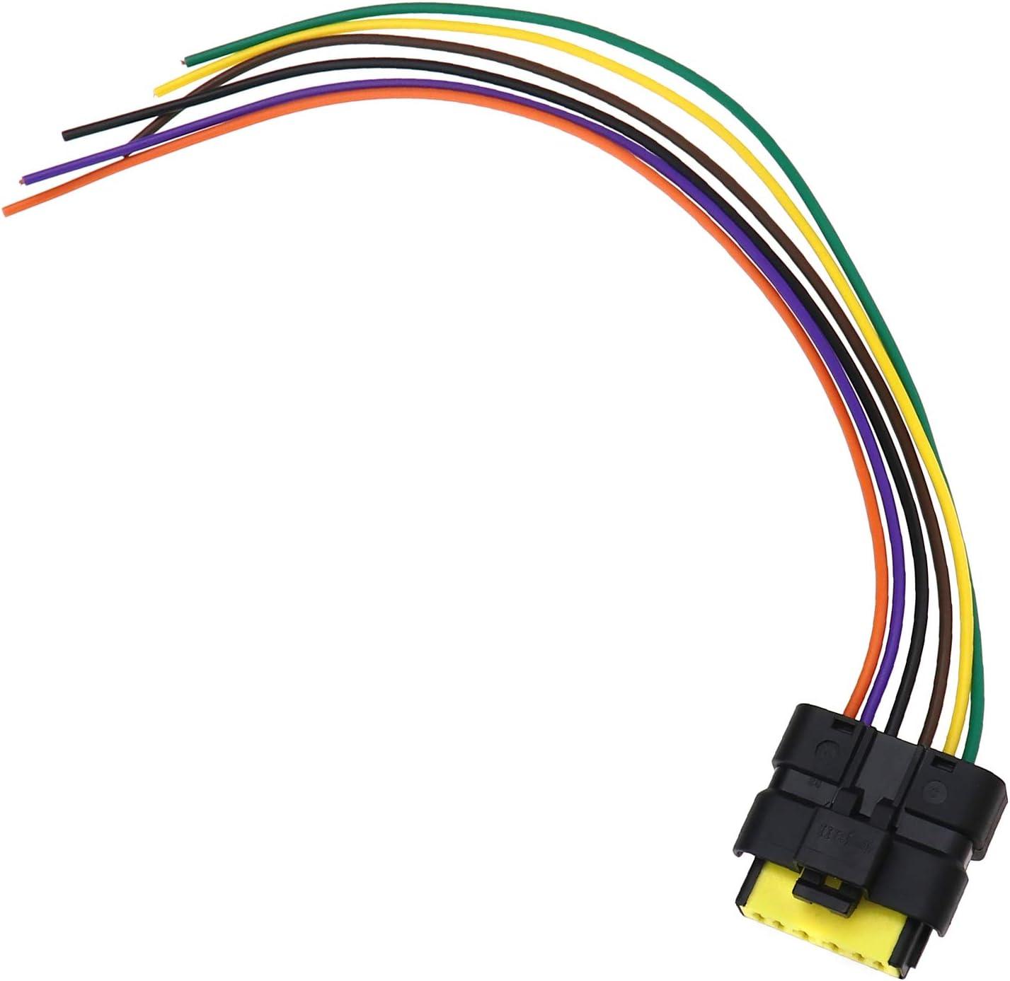 Ototec 28 Cm 6 Pin Hinten Schwanz Led Licht Platine Kabel Linie Pigtail Harness Stecker Ersatz Stecker Ersatzteile Kompatibel Mit Clio Mk3 Auto