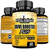 DRIVE BOOSTER PLUS Horny Goat Weed for Women and for Men Super Strength 1000mg Epimedium Extract Natural Energy Stamina Male Female Libido Enhancer with Maca Tribulus Saw Palmetto Icariins Muira Puama Review