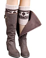 Sankuwen Women Winter Boot Cover , Christmas Leg Warm Sock