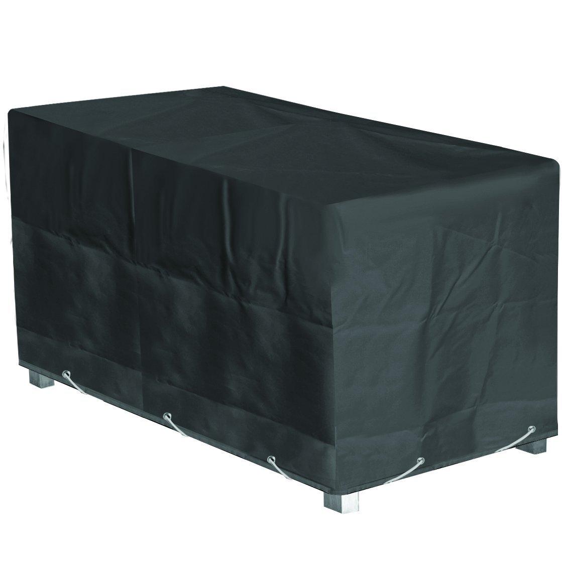 Custodia di protezione per tavolo da giardino rettangolare alta qualità, poliestere, 240 x l 110 x h, 70 cm, colore: antracite QUATTRO DIFFUSION