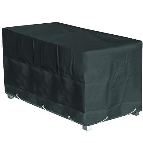 GREEN CLUB Housse de Protection Table de Jardin Rectangulaire Haute qualité  Polyester L 180 xl 110 xh 70 cm Couleur Anthracite