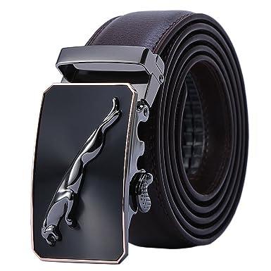 Hommes Ceinture En Cuir Véritable,Jaguar Business Suits Casual Boucle  Réversible Avec Cliquet Automatique, 2c7045f624b