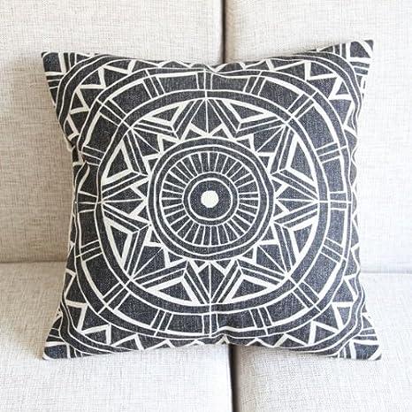 Amazon.com: Patrones geométricos complejos Throw funda de ...
