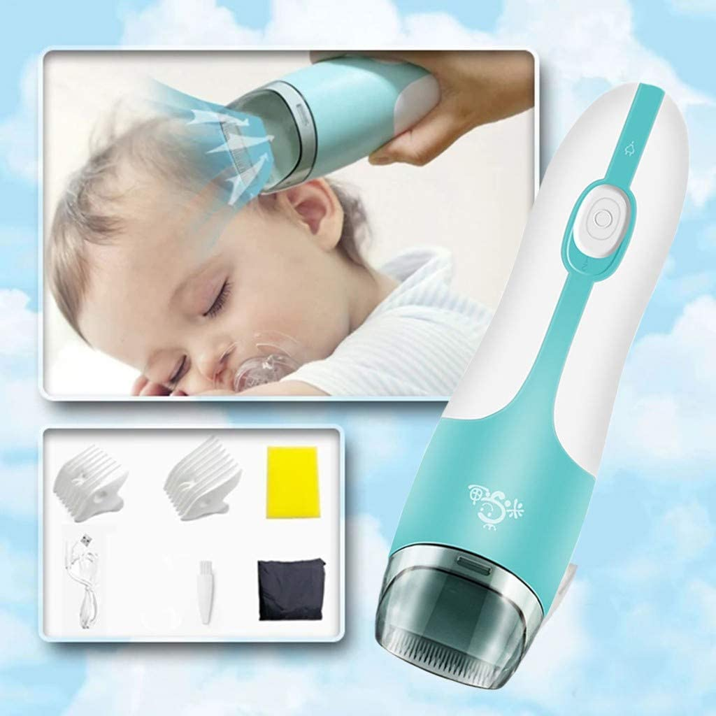 Professional Hair Clippers for Kids - Auto Sucking Snipped Hair Cutting Kits, Waterproof Men's Cordless Hairdressing and Grooming Set for Beard, Head, Body and Face - Wet & Dry Vacuum Trimmer