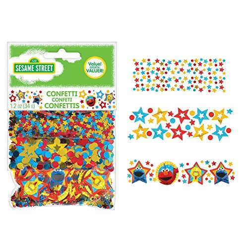 Amscan 361672 Confetti | Sesame Street Collection, Multicolor]()