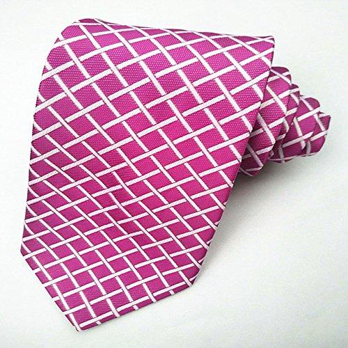 Casual White Men's Ties tie Dress Fashionable Collar red Plaid tt0qpz