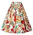 GRACE KARIN Women Knee-Length Flare Midi Skater Skirt with Pockets CL8925