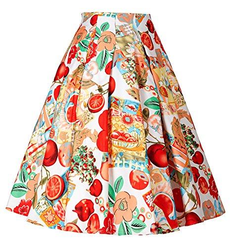 GRACE-KARIN-Women-Knee-Length-Flare-Midi-Skater-Skirt-with-Pockets-CL8925