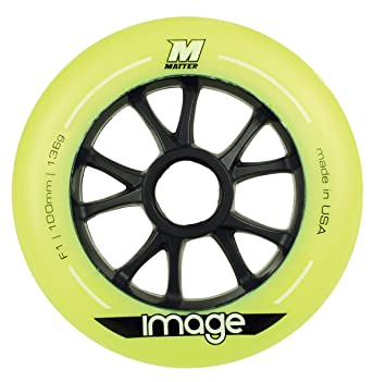 Powerslide 205083 100F1 - Juego de ruedas para patines (8 unidades), color amarillo: Amazon.es: Deportes y aire libre