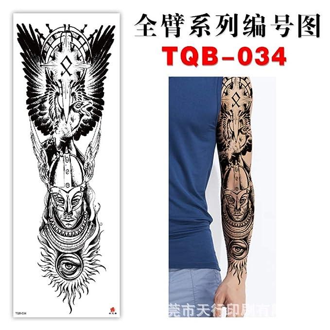 3pcs pegatinas de tatuaje de brazo completo protección ambiental a ...