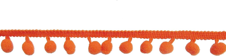 XiXiboutique 18 Yards Ball Fringe Pom Pom Trim Ribbon Sewing Pom Ball Size 12mm,Hot Pink