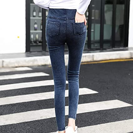 ea37728862378 MUQGEW Maternity Clothes zwanger Maternity Pregnancy Skinny Trousers Jeans  Over The Pants Elastic Vetement grossesse Femme #y2 : Black, XXL:  Amazon.com.au: ...
