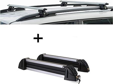 Vdp Relingträger Crv120a Skiträger Snowboardträger Skihalter Alu 4 Paar Ski Kompatibel Mit Fiat Panda Iii Cross Ab 14 Auto
