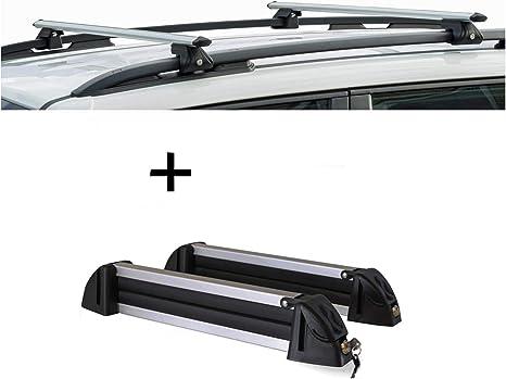 Vdp Relingträger Crv120a Skiträger Snowboardträger Skihalter Alu 4 Paar Ski Kompatibel Mit Dacia Sandero Stepway Ii Ab 13 Auto