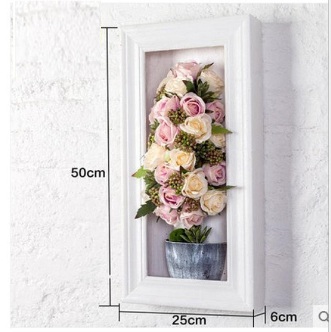 JY$ZB Simulation roses wedding background wall ornaments creative three - dimensional wall paintings , 1