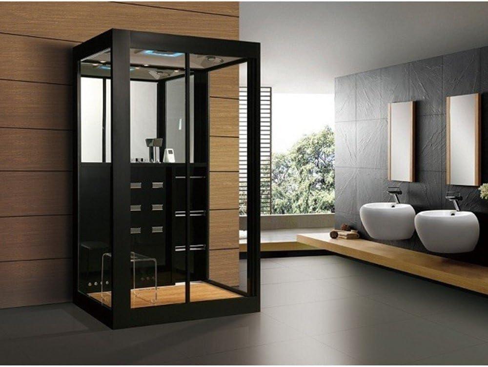 Home Deluxe Cabina de Ducha Black Luxory XL - Templo de ducha y Sauna de vapor: Amazon.es: Hogar